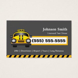 Urban Taxi Driver Chauffeur - Yellow Cap Business Card