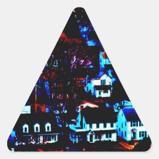Urban Town Triangle Sticker