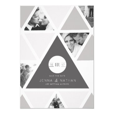 Aztec Themed Urban Triangle Overlay | Modern Save The Date Card