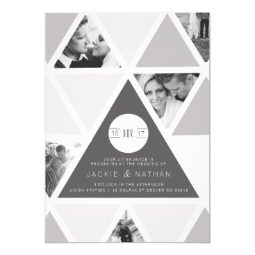 Aztec Themed Urban Triangle Overlay | Modern Wedding Card