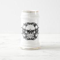 urban, tribal, skull, fun, bones, tatto, cool, tendency, retro, skulls, funny, vintage, impressive, freshly, classic, rock, metal, graffiti, Caneca com design gráfico personalizado