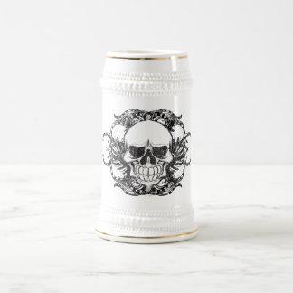Urban tribal skull beer stein