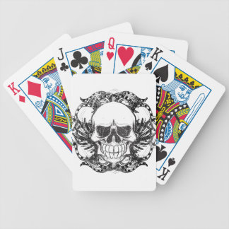 Urban tribal skull bicycle playing cards