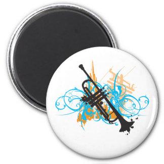 Urban Trumpet 2 Inch Round Magnet