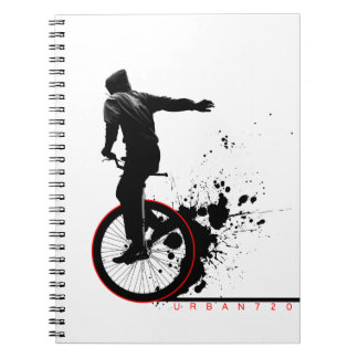 Urban Unicycle B Spiral Notebook