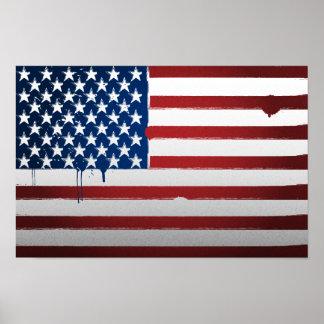 Urban USA Flag Poster