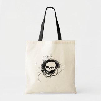Urban vector skull budget tote bag