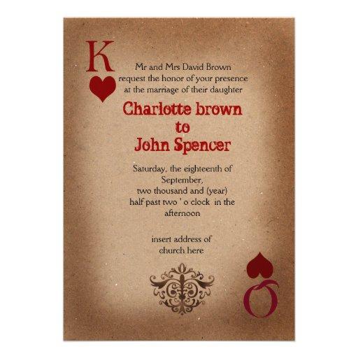 urban vegas wedding invitation