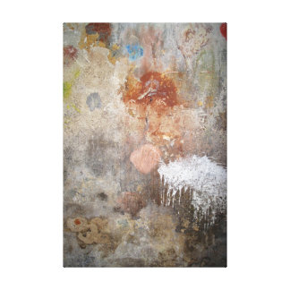 Urban Wall Abstract. Stretched Canvas Print