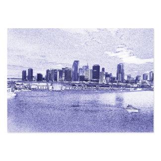 Urban Waterfront Skyline Business Cards