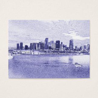 Urban Waterfront Skyline Business Cards