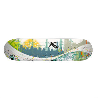urban-wave skateboard deck