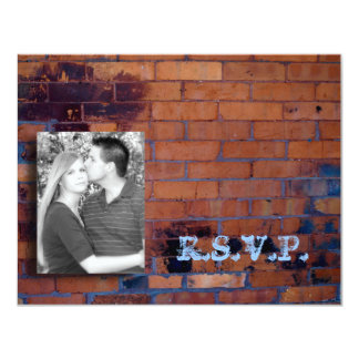 Urban Wedding RSVP card