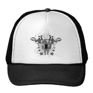 Urban Weightlifter Illustration Mesh Hats