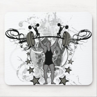 Urban Weightlifter Illustration Mouse Pad