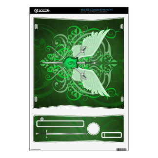 Urban Winged Fantasy Green Swords Xbox Skin Decals For The Xbox 360 S