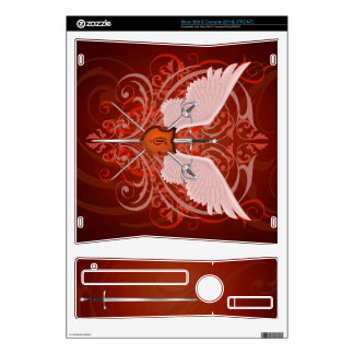 Urban Winged Fantasy Orange Swords Xbox Skin Decal For The Xbox 360 S