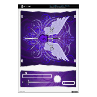 Urban Winged Fantasy Purple Swords Xbox Skin Decal For The Xbox 360 S