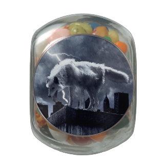 Urban Wolf Jelly Belly Candy Jar