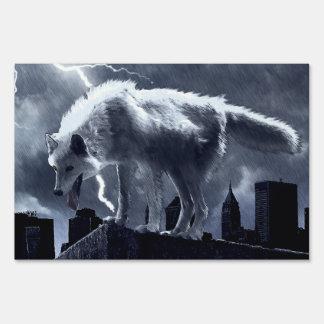 Urban Wolf Lawn Sign