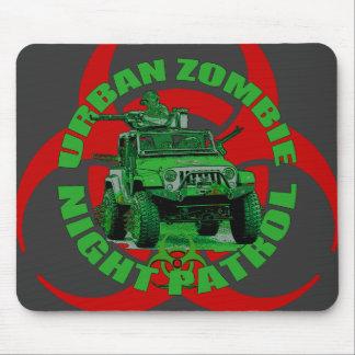 Urban Zombie Night Patrol Mouse Pad