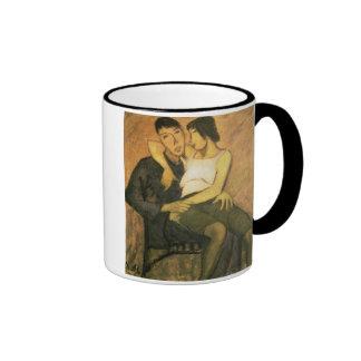 Urbanite Couple, 1920 (aceite en lona) Tazas De Café