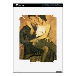 Urbanite Couple, 1920 (oil on canvas) iPad 3 Decals