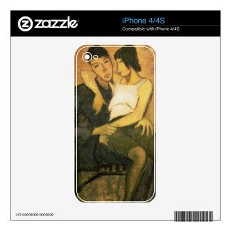Urbanite Couple, 1920 (oil on canvas) iPhone 4 Decals