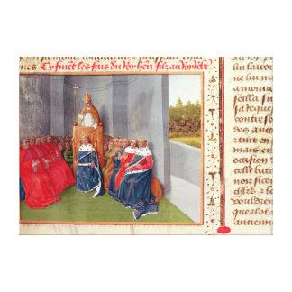 Urbano II que predica la cruzada en Clermont Impresión En Lienzo