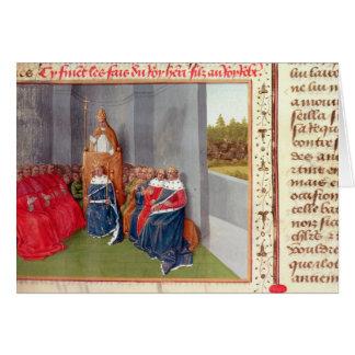 Urbano II que predica la cruzada en Clermont Felicitaciones