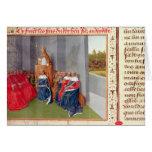 Urbano II que predica la cruzada en Clermont Tarjeta De Felicitación