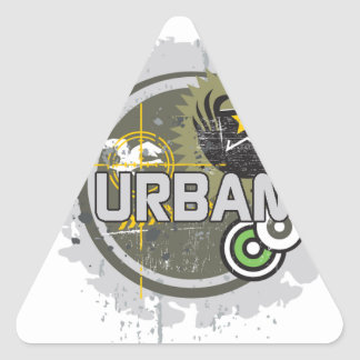 urbano pegatina triangular