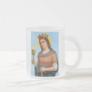 Urceus S. Barbarae 10 Oz Frosted Glass Coffee Mug