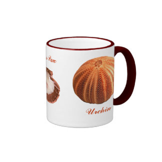 Urchin, Lions Paw, Murex Ramous Ringer Coffee Mug