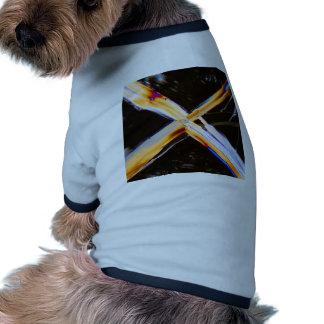 Urea debajo del microscopio camiseta de perro
