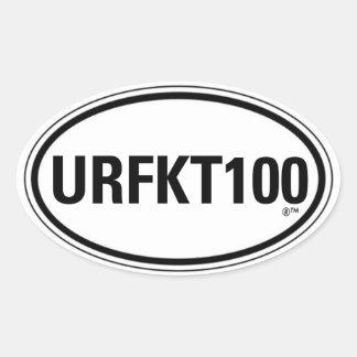 URFKT100 PEGATINA OVALADA