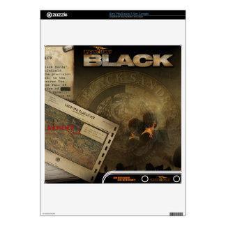 Urgent Fury Black Throwback Skin PS3 Slim Console Skin