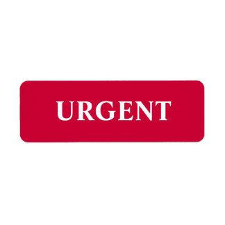 Urgent Label