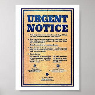 Urgent Notice Posters
