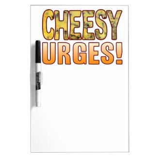 Urges Blue Cheesy Dry-Erase Board