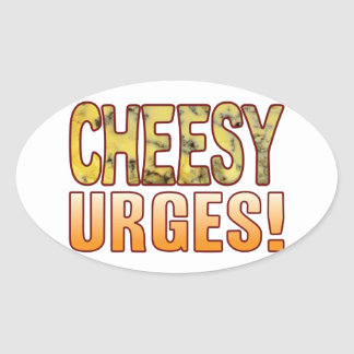 Urges Blue Cheesy Oval Sticker