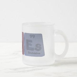 Urges-U-Rg-Es-Uranium-Roentgenium-Einsteinium.png Frosted Glass Coffee Mug