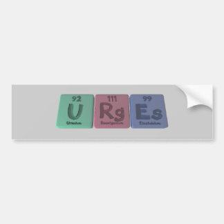 Urges-U-Rg-Es-Uranium-Roentgenium-Einsteinium.png Pegatina Para Auto