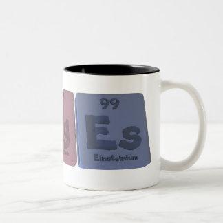 Urges-U-Rg-Es-Uranium-Roentgenium-Einsteinium.png Two-Tone Coffee Mug