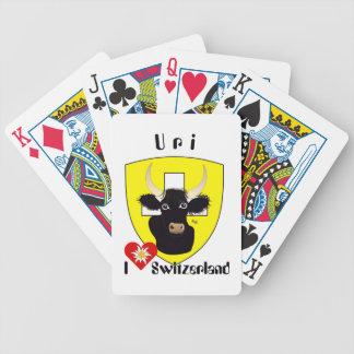 Uri Suiza Suisse Svizzera carta de juego