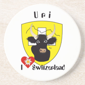 Uri Switzerland Suisse Svizzera beer cover Drink Coaster