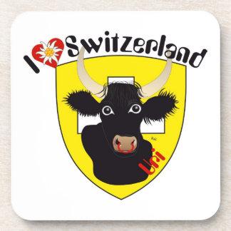 Uri Switzerland Suisse Svizzera cork reductor Beverage Coaster