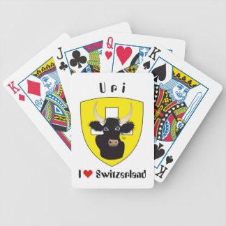 Uri Switzerland Suisse Svizzera Spielkarten Bicycle Playing Cards