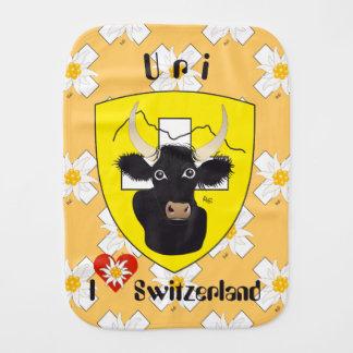 Uri Switzerland Suisse Svizzera Svirza spitting Baby Burp Cloth