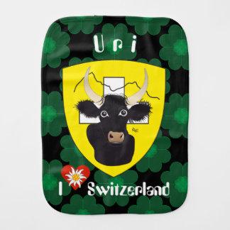 Uri Switzerland Suisse Svizzera Svirza spitting Burp Cloth